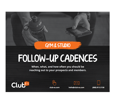 Gym and Studio Follow-Up Cadences